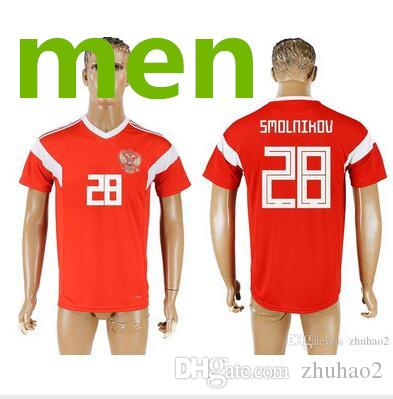 2019 2018 World Cup Russia Football Jersey 2018 World Cup Russia Main  Stadium Red Football Uniform Thailand Quality Kokorin Dzyuba Smolov Footbal  From ... e7e28421c