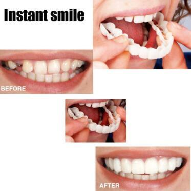 Cosmetic Dentistry Snap On Smile Instant Smile Comfort Fit Flex Cosmetic  Teeth One Size Fits Most Comfortable Denture Care CCA10103 50pcs
