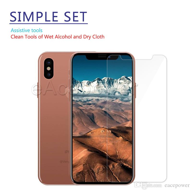 Tempered Glass Screen Protector Anti Shatter Flim For iPhone X Xr Xs Max 8 7 6 6S Plus with Retail Package