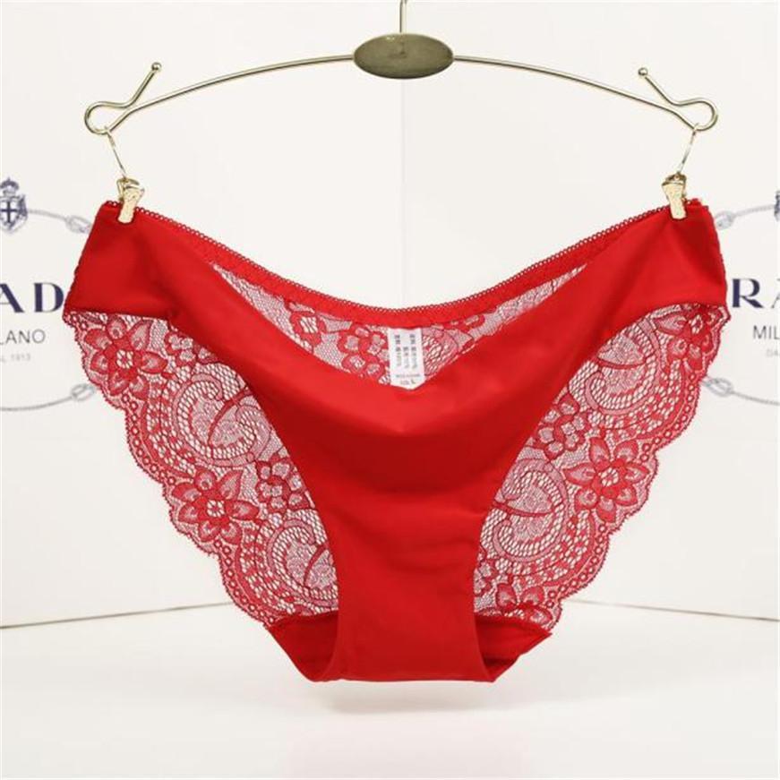 aad510516 2019 KLV Sexy Ladies Underwear Woman Panties Victoria Fancy Lace Calcinha  Renda Seamless Cotton Panties Hollow Briefs Underwear From Tielian