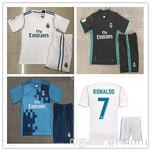 68c4f1cb208 2019 Thai Quality 2018 New Real Madrid Home White Soccer Jersey KIT 17 18  Away Black Soccer Shirt Ronaldo Bale Football Uniforms Asensio SERGIO From  ...