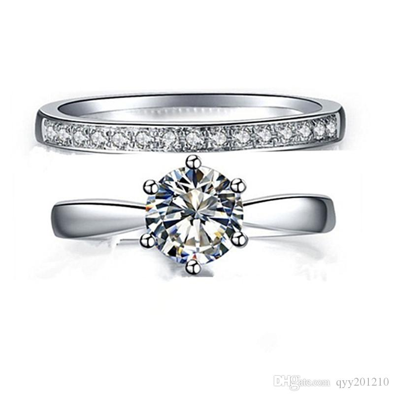 white classic unity ring gold rings engagement solitaire sapphire