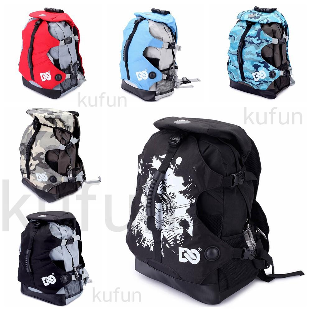 kufun Inline Skating Backpack for Roller Skate Hiking Climbing Boots Bag Shoes Knapsack