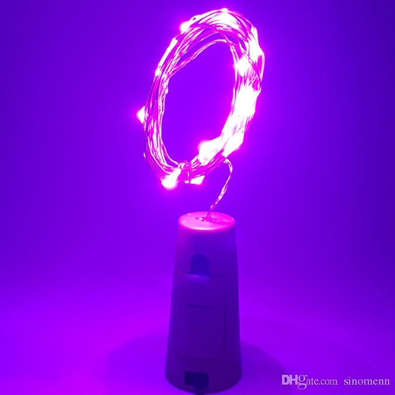 2M 20Led Glass Wine LED String Light Cork Shaped Wine Bottle Stopper Light Lamp Christmas Party Decoration