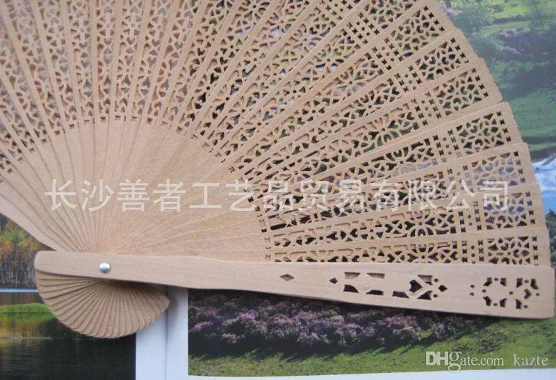 Chinese Style Wedding Favors Gift Fans Sandalwood Folding Cutout Wood Hand Craft Fan+ DHL 2018 Wedding Bridal Fans