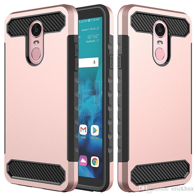 Carbon Fiber Hybrid Rugged Armor Luxury Cell Phone Cases Defender PC TPU Cover For Motorola MOTO E4 G6 play E5 PLUS E5 play