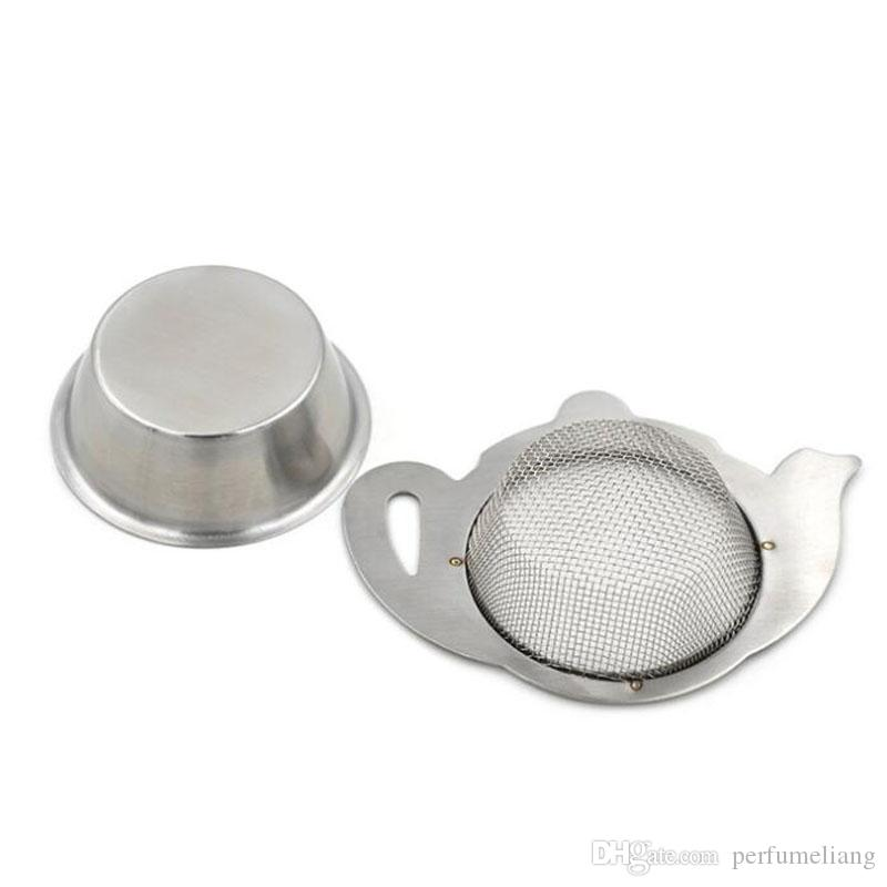 Stainless Steel Tea Strainer with Handle Mesh Infuser Container Holder for Teapot Mugs Cups Loose Tea Brewing Tools ZA6476