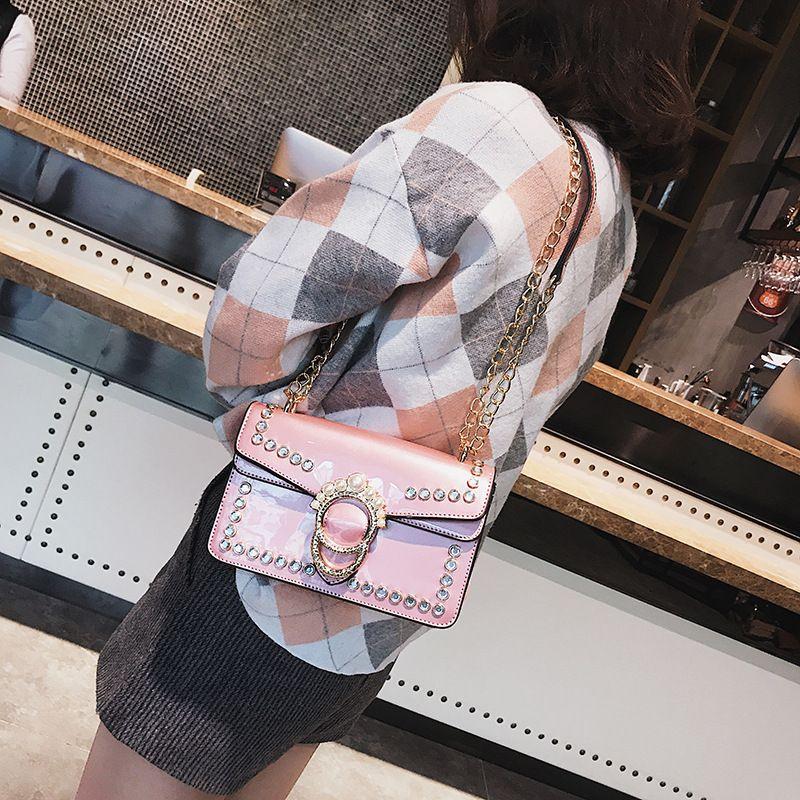 Mode Frauen PU Leder Handtaschen Kette Umhängetasche Box Bag Handtaschen Party Bag