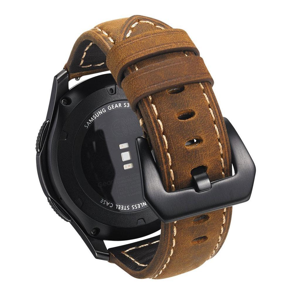 Acier En Boucle À Gear Cuir S3 22mm Bande De Pour Rapide Avec Montre Bracelet Sport Véritable Fermoir Libération Samsung Goupille jARL54