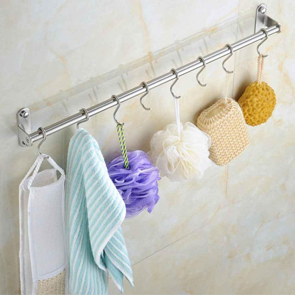 Merveilleux 2018 Wall Mounted Stainless Steel Towels Bar Holder Towels Bathroom  Accessory Kitchen Wall Cabinet Hook Storage Hooks Up Rails From Fair2015,  ...