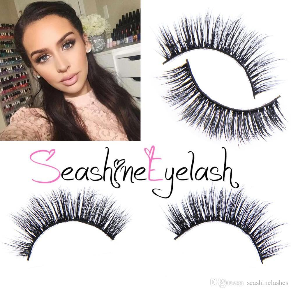 Seashine Natural Mink Strips Thick Cross Natural False Eyelash 3d