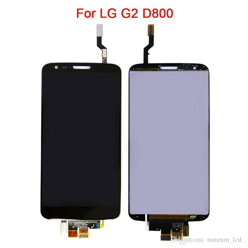 LCD originale LG G2 D801 D803 D800 LS980 VS980 F320 Display LCD e touch digitizer assembly