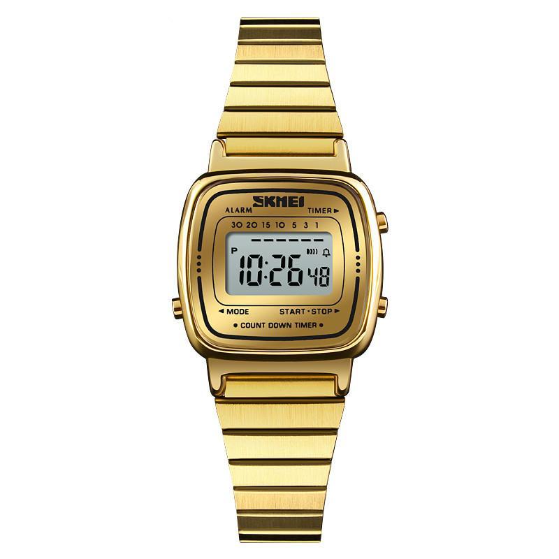 c846d34e140 Compre SKMEI Lady Digital Relógio Quadrado Relógio De Moda Top Marca De  Luxo Mulheres Casuais Relógio De Contagem Regressiva Alarme Relógio De  Pulso Relogio ...