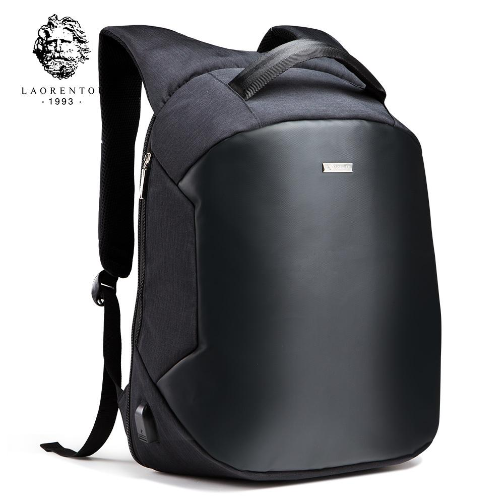 18b46ad5aa LAORENTOU 2017 Men Backpack Laptop Travel Bag Men S Business Computer Bag  Multifunction Oxford School Backpacks For TeenagersX82401 Rolling Backpacks  ...