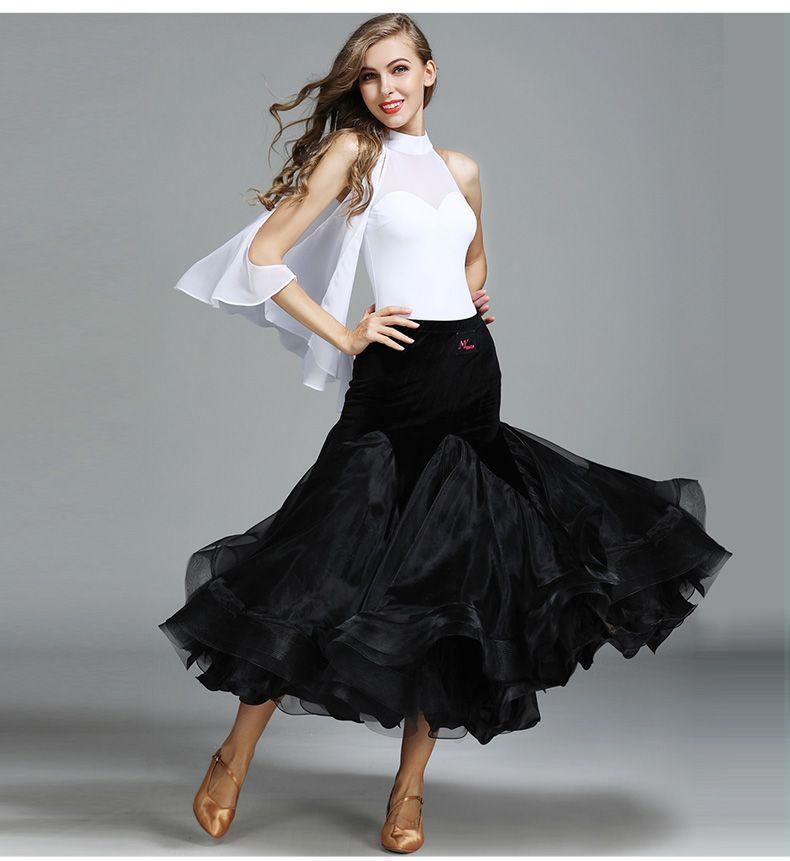 195e752be186 White Ballroom Dress for Women Long Ballroom Dance Wear Standard ...