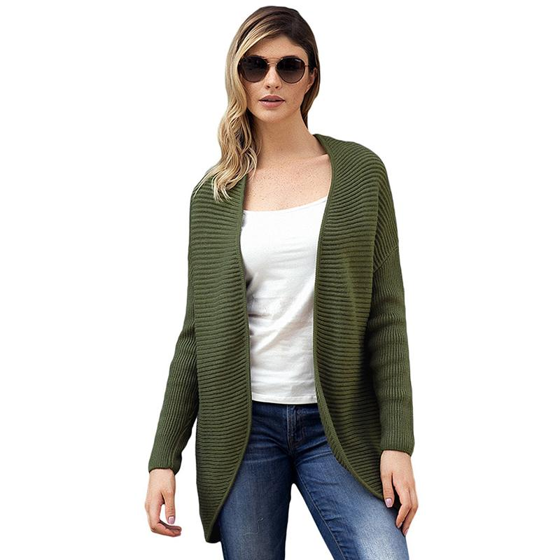 2019 Winter Women Warm Casual Opening Sweater Army Green Ribbed Knit Lace  Up Back Sweater Cardigan Long Sleeve Harajuku Veste Femme From Candice98 5bff2ea1b