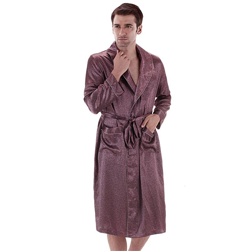 2018 2015 New Male Spring Autumn Dressing Gown Mens Paisley Bath ...