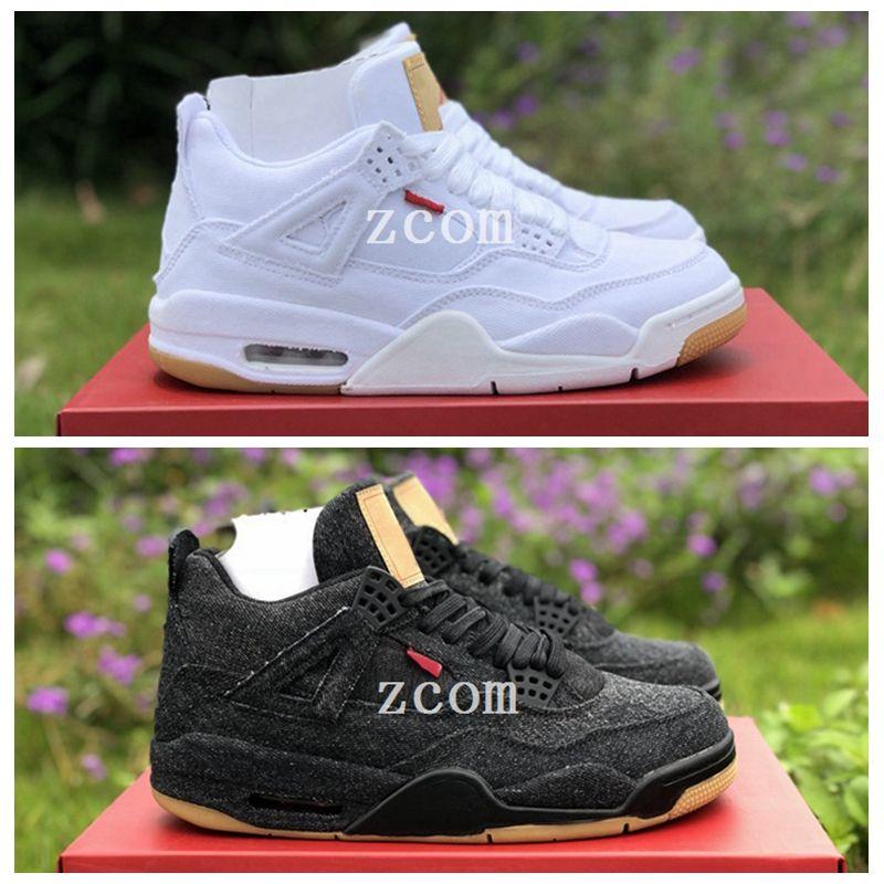 e9b611d5e928 2018 Denim 4 Jeans 4s Black White Jean Jiont Mens Basketball Shoes Trainers  Zapatos Designer Sneakers With Box 40 47 Women Basketball Shoes Men  Basketball ...