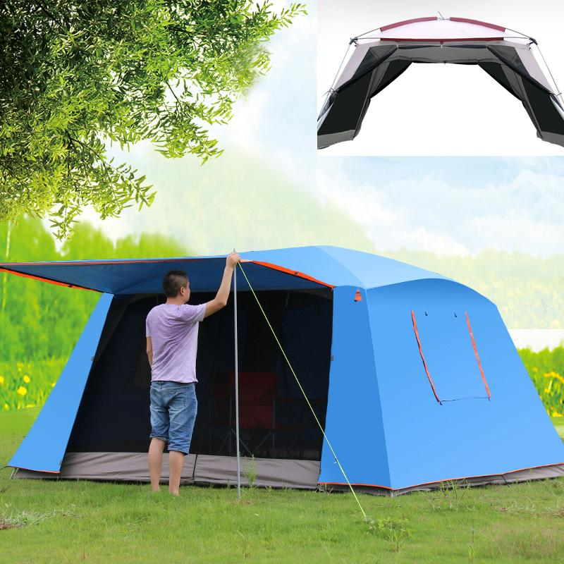 4Corners Double Layer Awning Outdoor Canopy Tent Sunscreen Mosquito 5 8 C&ing Shade Shelter Barbecue Beach Leisure Tent 8 Man Tents Tents For Sale Nz From ... & 4Corners Double Layer Awning Outdoor Canopy Tent Sunscreen Mosquito ...