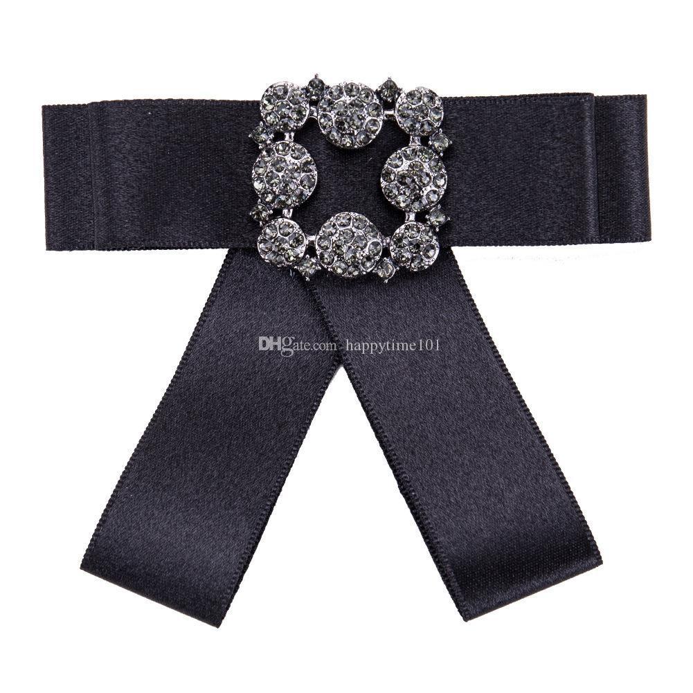 Arma Preta Acrílico Pin Broche Flor Jóias Presente Étnico Bohemian Promoção Pano de Arte Arco de Cristal Broches para As Mulheres Acessórios de Vestuário