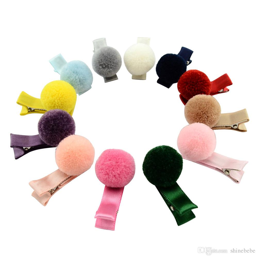 Fur Ball Hair Pin for Kids Girls Children Hair Accessories Baby Girl Bows with Clips Flower Hair Clip MY029