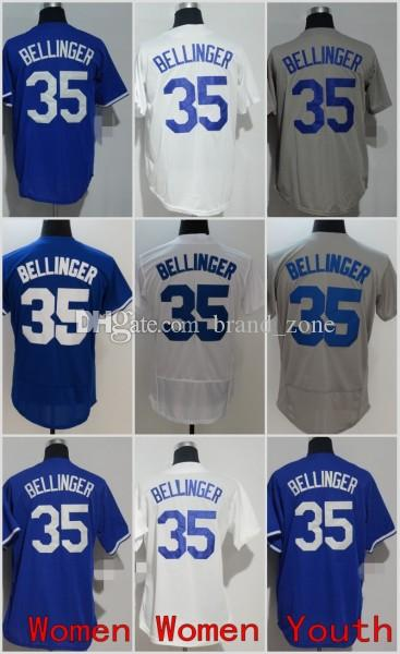 Online Cheap 2018 Men Women Youth Jerseys 35 Cody Bellinger Jersey White  Grey Blue Kids Stitched Baseball By Brand zone  70efc485387