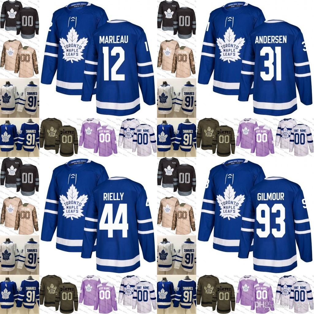 wholesale dealer fbd41 85269 2019 Toronto Maple Leafs mens womens youth 93 Doug Gilmour 12 Patrick  Marleau 44 Morgan Rielly 29 William Nylander Hockey Jersey Stitched
