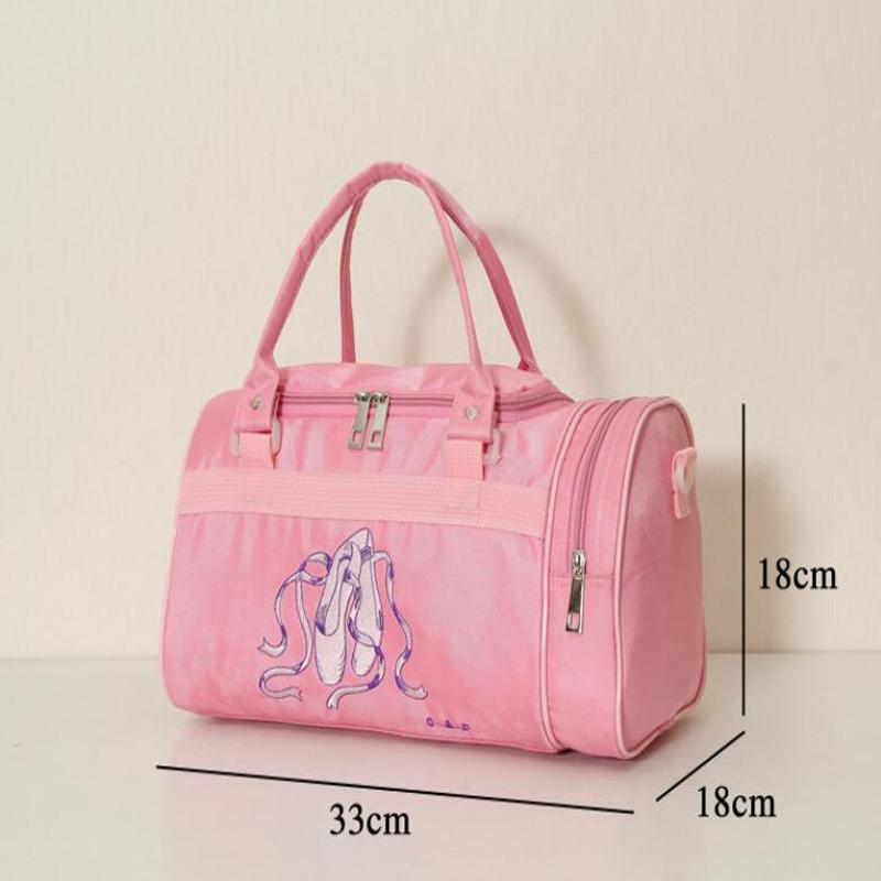 2019 Embroidered Rucksack Girls Large Ballet Dance Bag Children Kids Sports  Backpack Adults Women Ballet Bags Canvas Pink Dancing Bag From Vickay, ... 4a34403809
