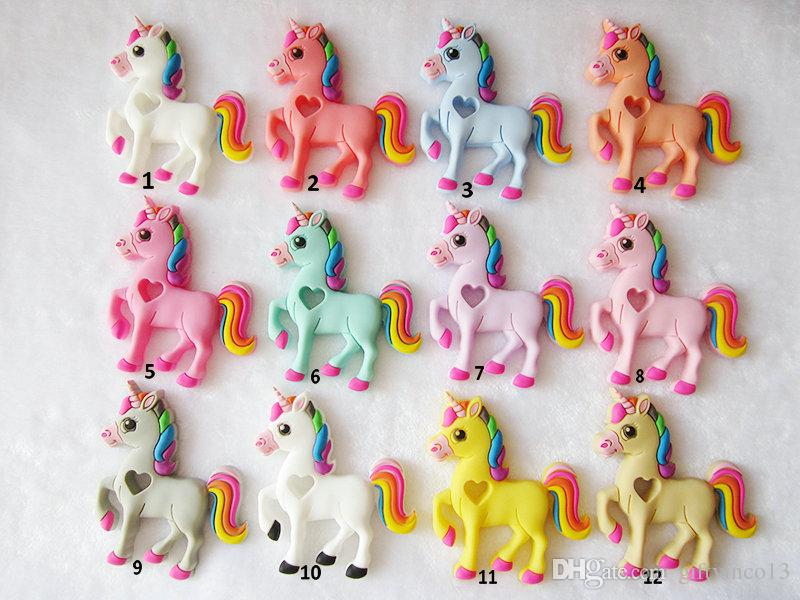 Wholesale Baby Teethers Unicorn Teething Toy Chew Pendant Beads DIY Nursing Necklace Soothers Multi Colors Food Grade Silicone Teethers