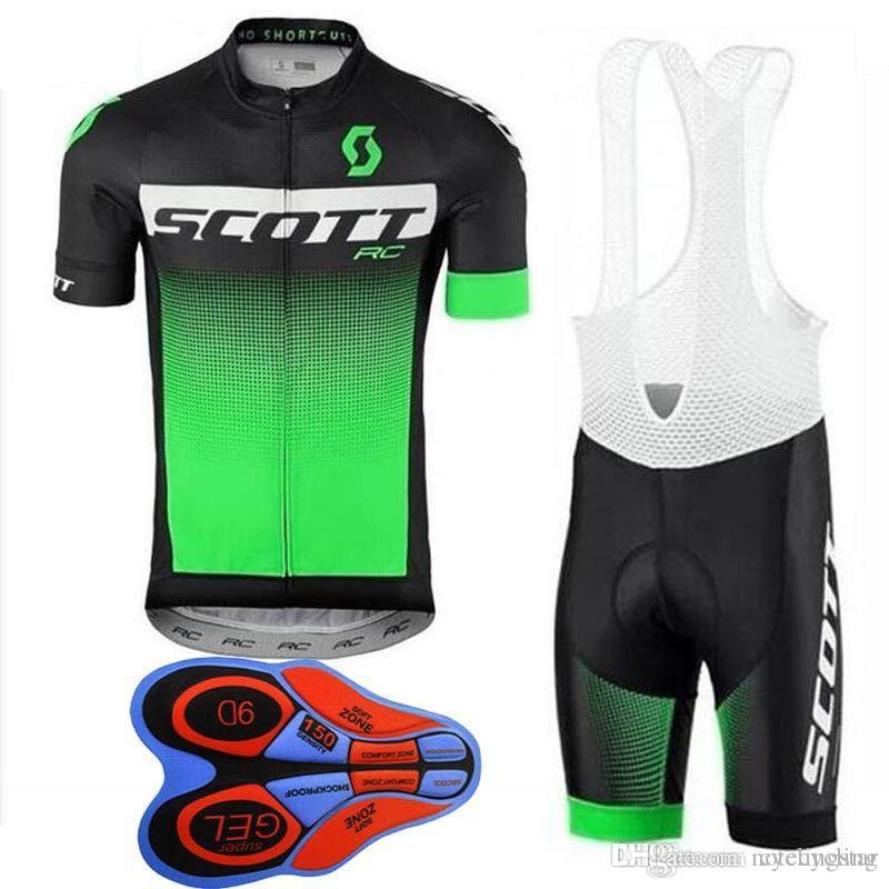 10b7fc4f2 2018 NEW Scott Team Cycling Jersey Set Short Sleeves Bib Shorts Sets ...