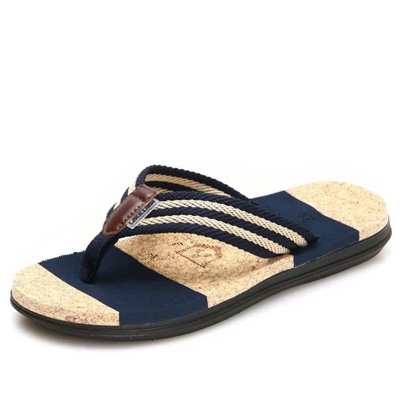 f59c5fd1f2d47 Foreign Trade Summer Men S Summer Sandals Flip Flops Couple Slippers Men S  Beach Sandals High Quality Comfortable Beach Men S Shoes Fringe Sandals  Silver ...