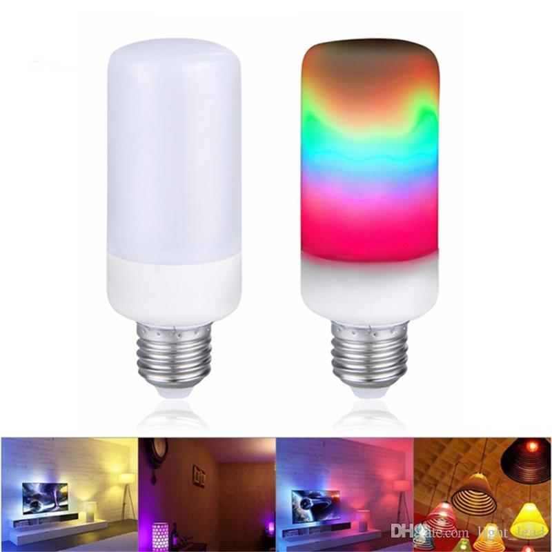 Großhandel Bunte Led Flammen Effekt Lampen E27 E26 E14 E12 B22 85 ...