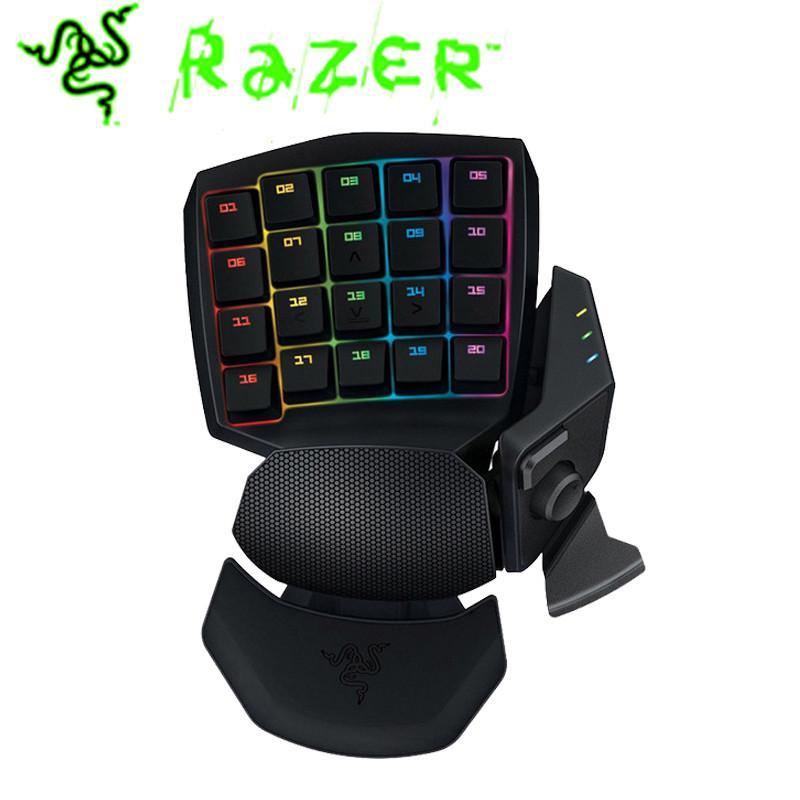 Razer Orbweaver Chroma Game Keyboard Mechanical Switches Wired RGB Backlit  30 Fully Programmble Keys Adjustable Hand Thumb Gamer
