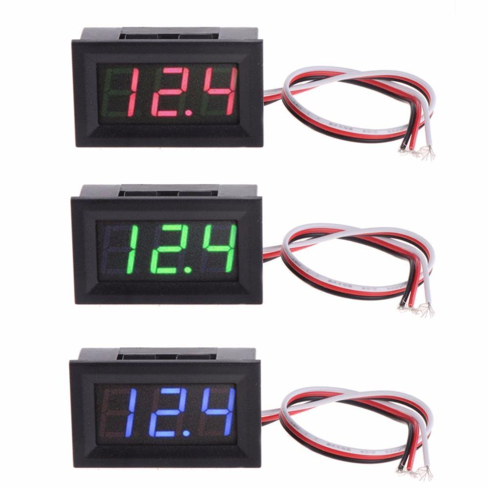 Mini Voltmeter Tester Digital Voltage Test Battery Dc 0 30v Red Blue