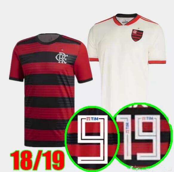30f9208aa 2019 Perfect 2018 CR Flamengo Home Away Soccer Jerseys Custom Name Number  GUERRERO 9 DIEGO 10 Football Shirts AAA Fotbul From Iepacket