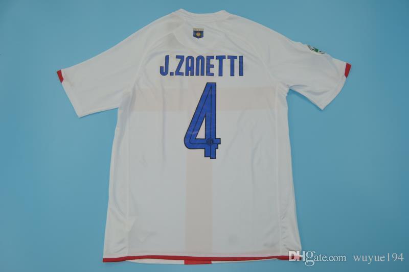 pretty nice 16e88 38e34 07-08 inter 100 anniversary Commemorative Edition away Retor jerseys red  cross classic shirts RECOBA Cruz ADRIANO FIGO Ibrahimovic Zanetti