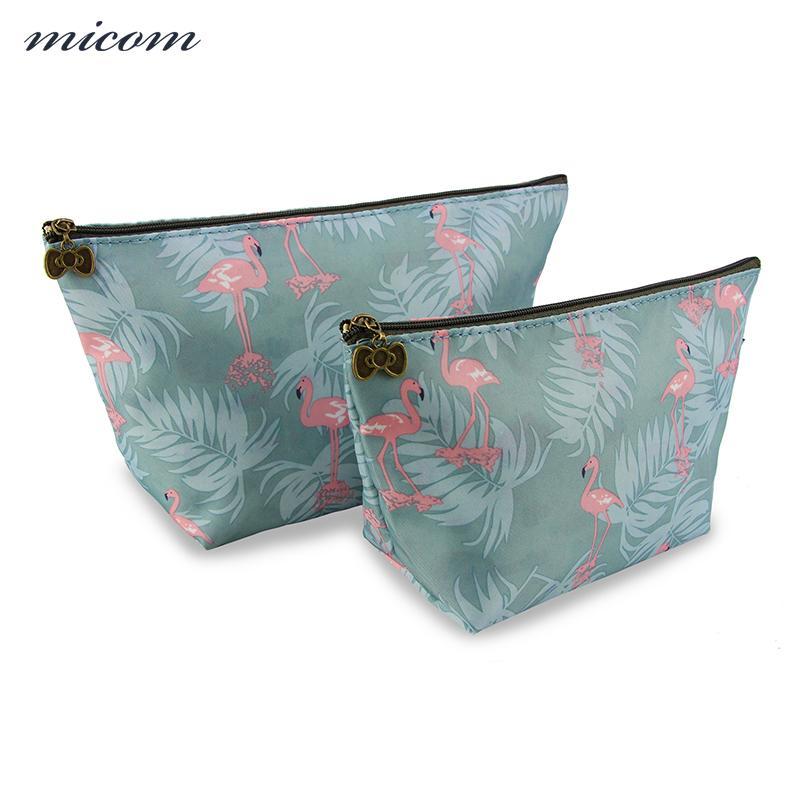 574f1ff620cd Micom Cartoon Flamingo Bags for Girls Cosmetic Bag Set Fashion Women  Multifunctional Makeup Bags Necessaries for Travel Kit Box