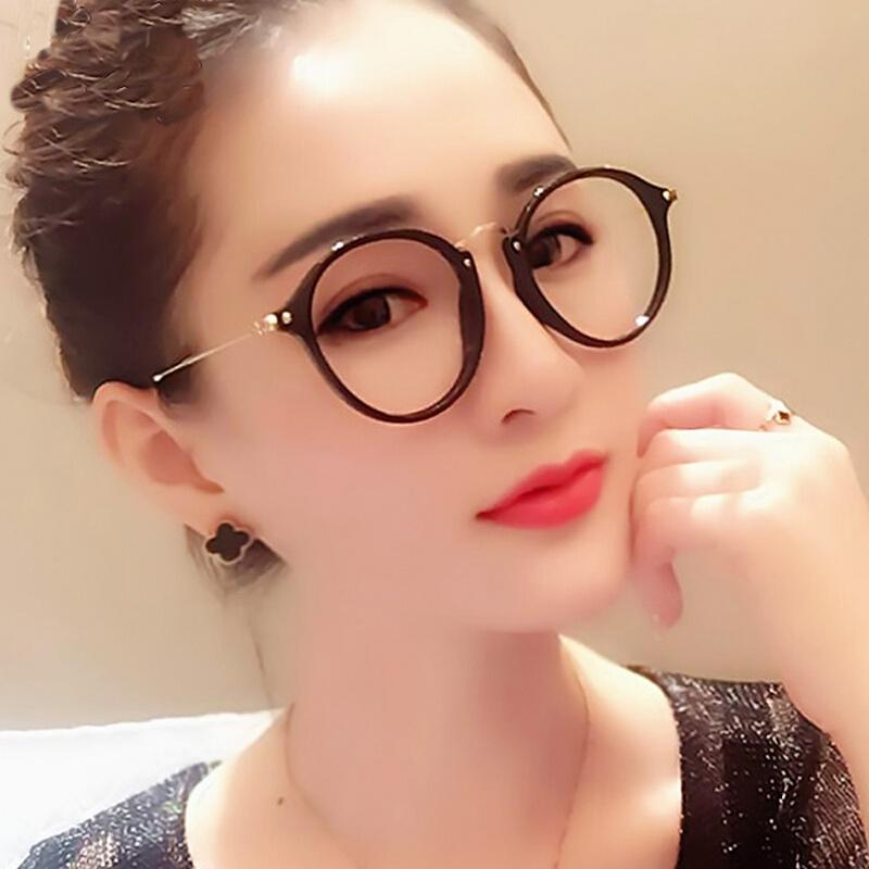 87740c0da6 2019 Retro Korean Version Of Myopic Eyeglasses Frame Women S Literature And  Art Round Face Round Face Simple Tidy Ultra Light From Hatsock