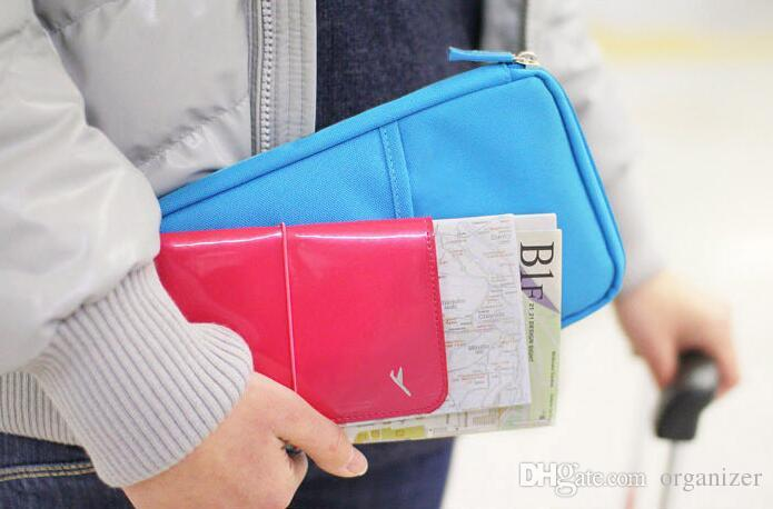 Ücretsiz Tasarım Pasaport Tutucu Bilet Cüzdan Çanta KIMLIK Kredi Kartı Saklama Çantası Seyahat pasaport Cüzdan Tutucu Organizatör Çanta Çanta