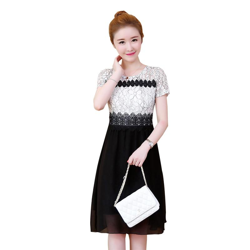 2e2c5e241816 Cute Sweet Dresses Women Fashion Summer Short Sleeve Girls A Line ...