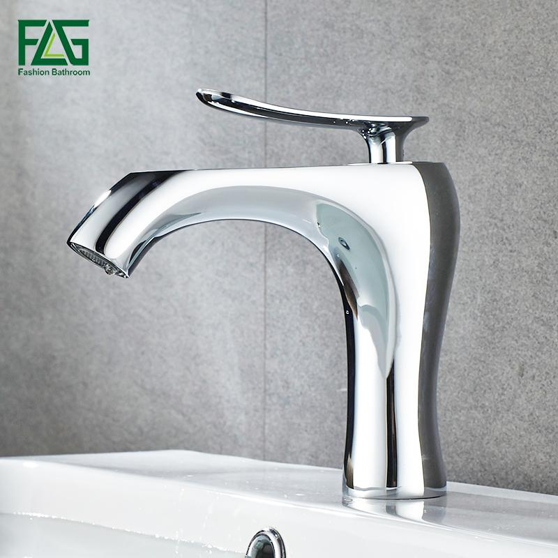 2018 Flg Modern Water Mixer Bathroom Basin Sink Faucet Brass ...