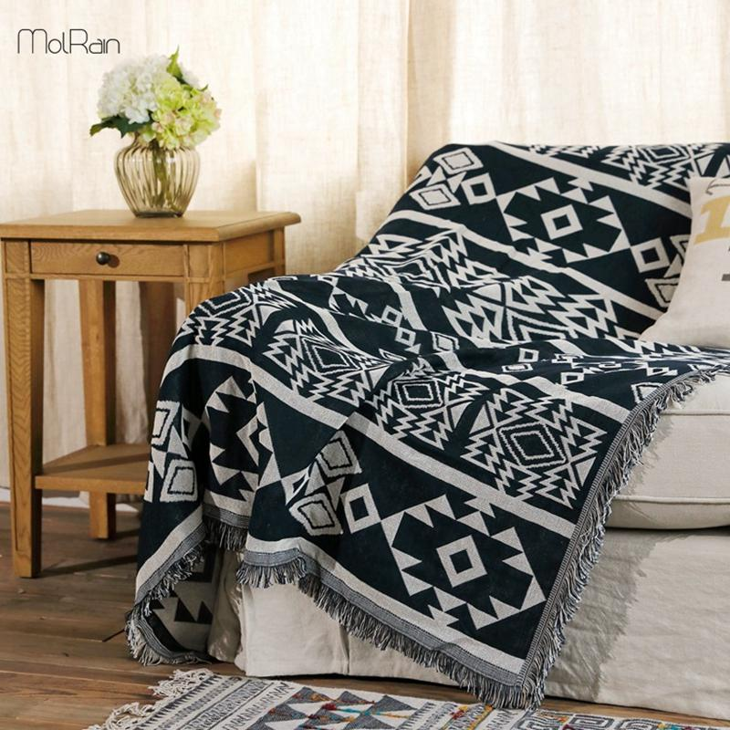 Home Use Blanket India Style Geometric Pattern Throw Blankets For