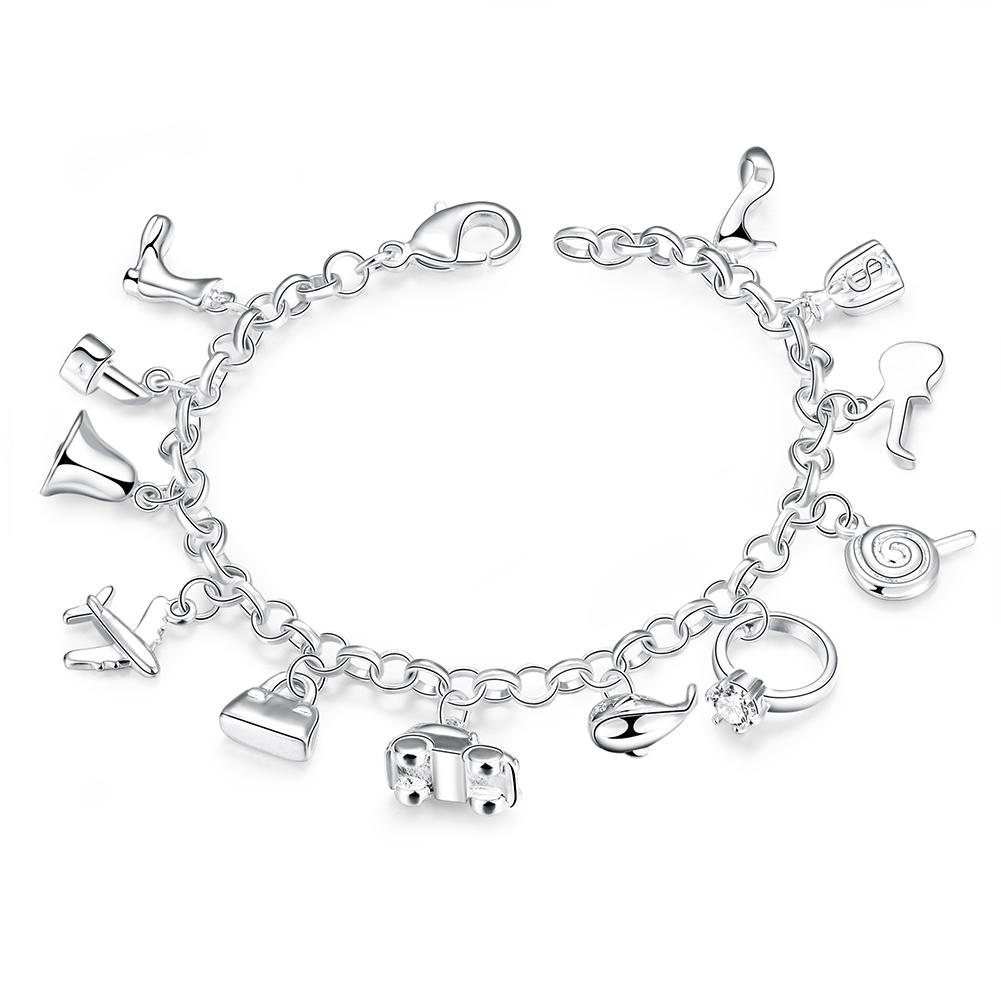 dp equilibrium gift forget me pretty plated boxed flower jewellery bracelet silver not bangle