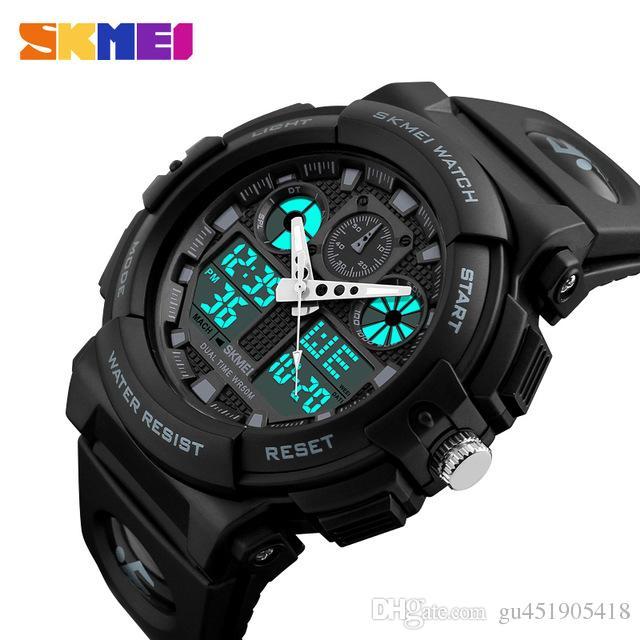 855f49ad2fa2 Compre Relojes Deportivos SKMEI Para Hombre Reloj Cronógrafo Digital Doble  Hora Relojes Deportivos 50M Watwrproof Week Relogio Masculino 1270 A  27.83  Del ...