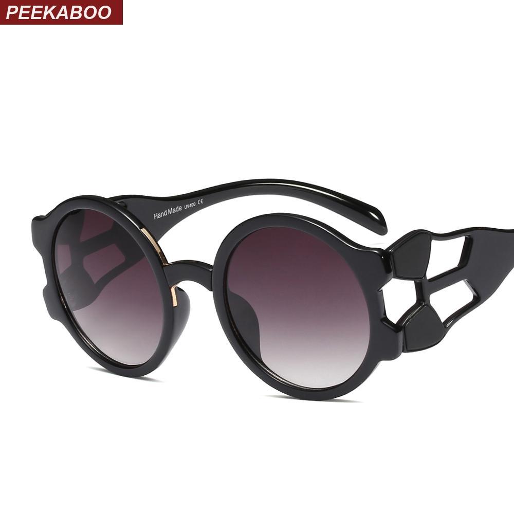 322351a799 Compre Peekaboo Gafas De Sol De Montura Gruesa Mujeres Vintage Redondo 2019  Gafas De Sol De Gran Tamaño De Moda De Verano Para Mujeres Leopardo Uv400 A  ...