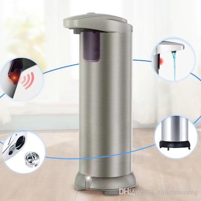 Acero jabón líquido del sensor de infrarrojos automático dispensador de jabón Dispensador automático inoxidable de ABS + Champagne desinfectante de la mano de la máquina