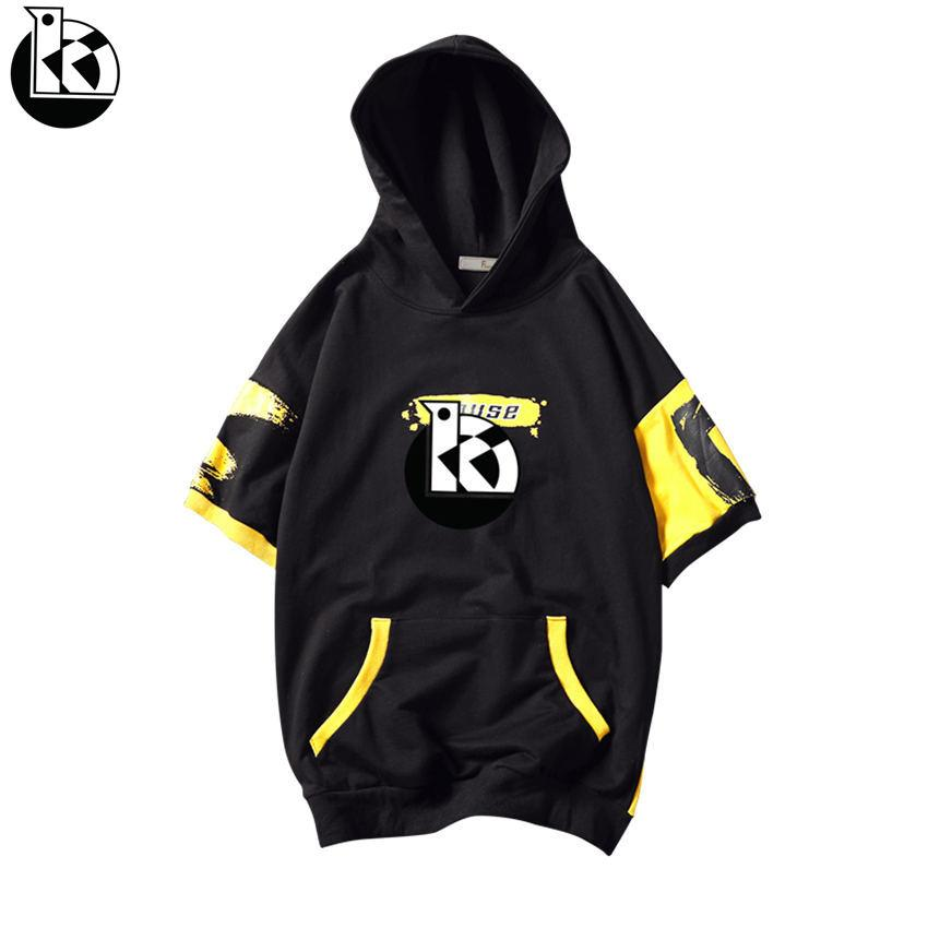 d1029c28c9db 2019 Summer New Large Size Short Sleeve Hoodie Men Fashion Casual Self  Cultivation Brand Trend Letter Printing Two Color Mens Hoodies From  Sunflowery
