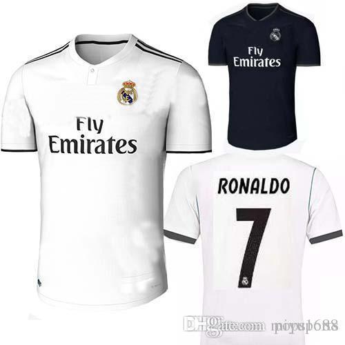 2019 New 2018 2019 Real Madrid Soccer Jersey Home White Away CR7 RONALDO  MODRIC ISCO RAMOS Asensio Best Quality Football Shirt Camiseta Maillot From  ... b2152234b