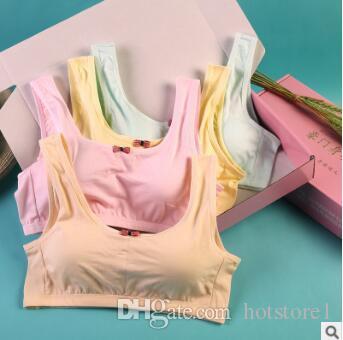 138441b8cd 2019 Girls Bra Cotton Development Underwear Primary School Junior High  School Students No Ring Student Thin Vest Girls From Hotstore1