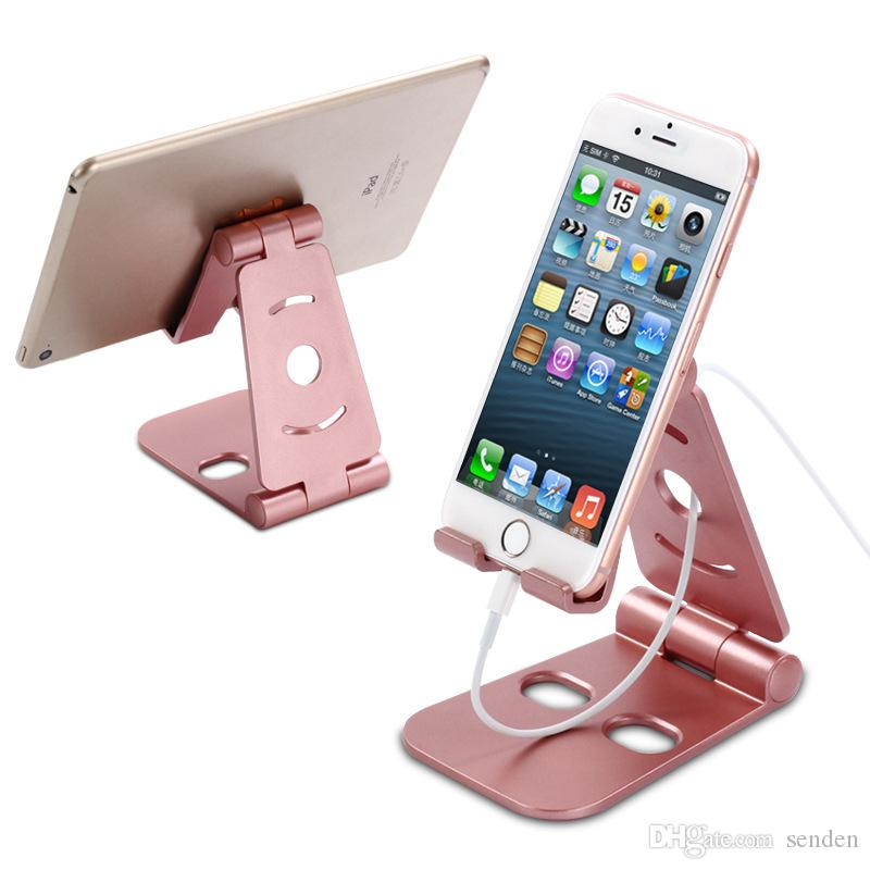 Mobile Phone Accessories Symbol Of The Brand Universal Foldable Portable Desk Stand Mobile Phone Tablet Holder Adjustable Au Mobile Phone Holders & Stands